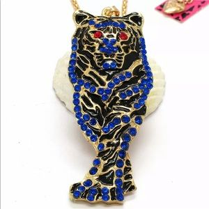 """Eye of the Tiger"" Betsey Johnson Plated Necklace"